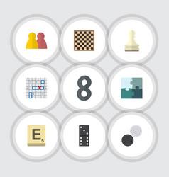 Flat icon entertainment set of bones game pawn vector