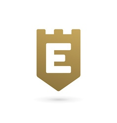 Letter E shield logo icon design template elements vector image vector image