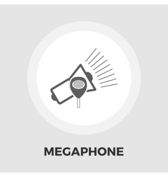 Megaphone icon flat vector image vector image