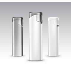 Set of Blank Plastic Metal Lighters Background vector image vector image