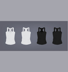 set of realistic white and black unisex sports vector image