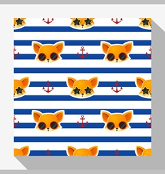Animal seamless pattern collection with fox 2 vector