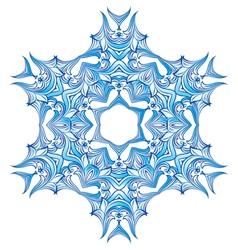Blue Snowflake design vector image vector image