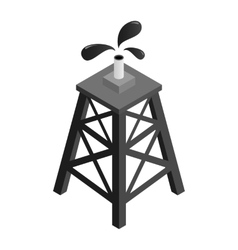 Oil rig isometric 3d icon vector image vector image