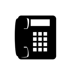 phone telephone call line supplies icon vector image
