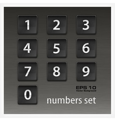 Set of numbers on black vector image vector image
