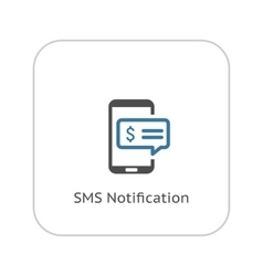 SMS Notification Icon Flat Design vector image vector image