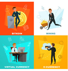 cryptocurrency bitcoin concept vector image vector image