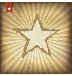 grunge burst background with star vector image vector image