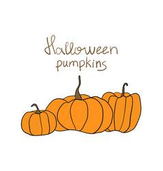 halloween pumpkin pattern simple pumpkins vector image