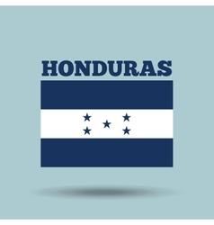 honduras country flag vector image