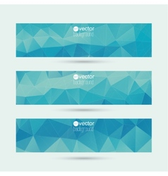 Set of banners with triangles and geometric shapes vector image
