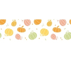 thanksgiving colorful pumpkins silhouettes vector image