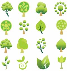 tree logos vector image vector image