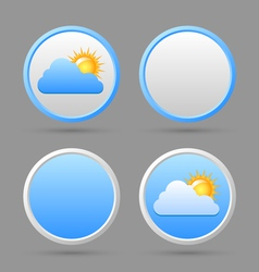Weather icons and blank templates vector image vector image