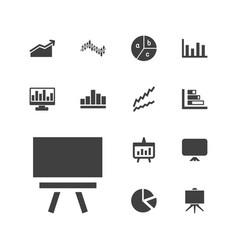 13 diagram icons vector
