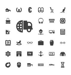 33 modern icons vector