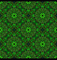 Abstract seamless bohemian floral petal pattern vector