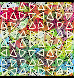 abstract seamless pattern triangles and grunge vector image
