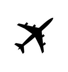 airplane icon black silhouette vector image