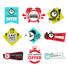 alarm clock isolated icons last minute offer vector image