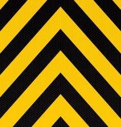 arrow warning stripe vector image