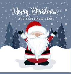beautiful christmas card with santa vector image