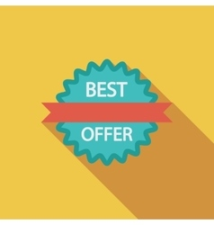 Best Offer vector image
