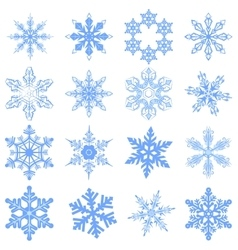 Big set Snowflake Flake of snow vector