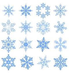 Big set snowflake flake snow vector