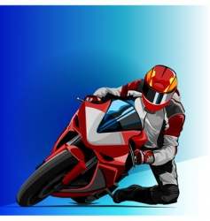 bike racing vector image