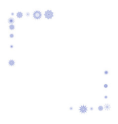 blue snowflakes on a white background vector image