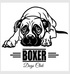 Boxer - for t-shirt logo and vector
