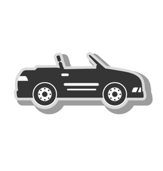 Cabriolet sport car icon vector
