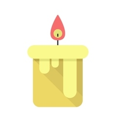 Candle flat style design vector