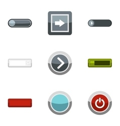 Choice button icons set flat style vector