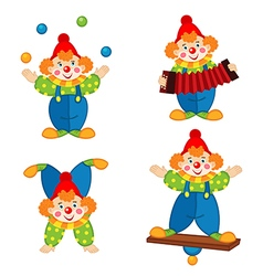 Circus clown in action vector