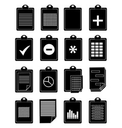 clipboard icons set vector image
