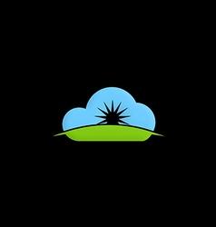 cloud shine abstract logo vector image