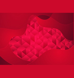 corporate low poly background with waves vector image