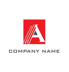 creative letter a logo vector image
