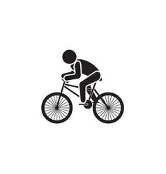cyclist icon black on a white vector image