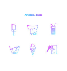 digital artificial taste concept icons collection vector image
