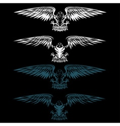Eagles set design template vector