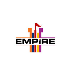 Empire logo design template vector