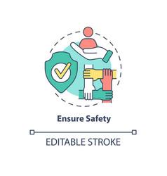 Ensure safety concept icon vector