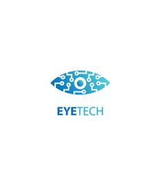 Eye tech icon design logo vector