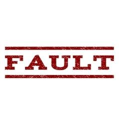 Fault Watermark Stamp vector
