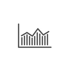 financial chart line icon finance graph vector image