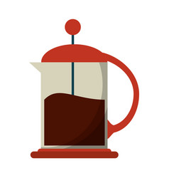 French press coffee maker vector